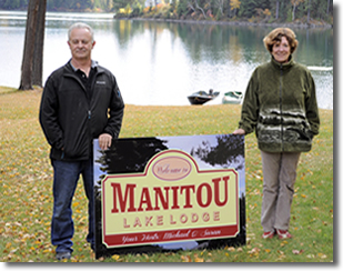 Michael & Susan Hosts of Manitou Lake Lodge